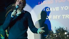 Radio 1 early morning host Greg James wowed the crowd with Eamon's '**** It (I Don't Want You Back)'