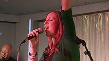Lucy does karaoke favourite, Bon Jovi's 'Living On a Prayer'