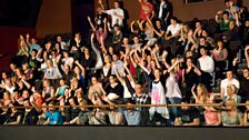 The balcony crowd show their appreciation
