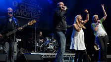 Chris Moyles Show fans Katie and Jen take to the stage with Dom