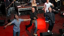 The Chris Moyles Show team go for it with their final song.