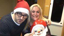 Vanessa & Producer Phil feeling festive!
