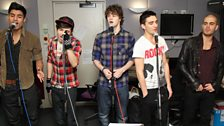 The Wanted perform in the Live Lounge with Chris and Dave on percussion!