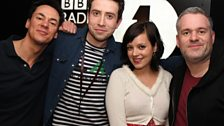 Lily Allen joined the guys while Grimmy was in