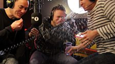 Olly Murs gives Beccy a drenching during Innuendo Bingo!