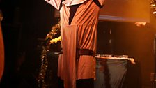 Chris greets the crowd at the Junction in Cambridge in his Obi-Wan Kenobi outfit, naturally.