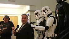 The Stormtroopers led the birthday boy to Maida Vale Studio 1