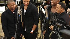 JLS also surprised Chris with an acapella version of Happy Birthday
