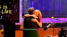 Fearne dishes out the cuddles for Chris