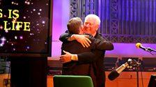 A hug for Roy Walker