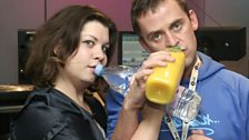 Katy Brand and Scott stick to the soft drinks