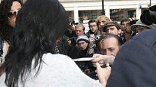 Katy signs autographs outside Radio 1