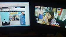 Jonathan Cresswell has BeckyCam running on TWO monitors whilst Freya was on