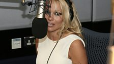 Pamela Anderson visits Radio 1 - 4