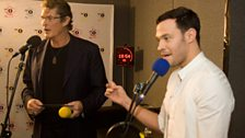 The Hoff mistakes Will Young for a waiter! The cheek!