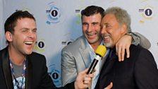Scott chats to Joe Calzaghi and Tom Jones
