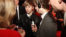 What better way to end our Brits gallery than with this picture of megastar Bieber turning his nose up at Beccy's cocktail?...