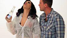 Katy gargles Gaga for Scott