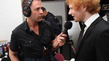 Scott chat's to a very sharp Ed Sheeran