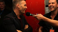 Scott chats to Gary Barlow