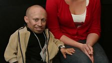 Verne Troyer, with Becky
