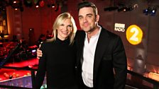 Jo Whiley and Robbie Williams