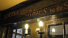 Bar sign at The George Inn