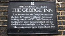 Sign outside The George Inn