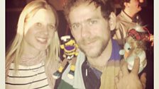 Hanging out with Bryce Dessner of The National!
