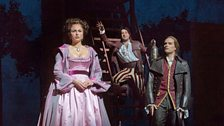 Isabel Leonard as Rosina, Rodion Pogossov as Figaro and Alek Shrader as Count Almaviva