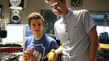 Greg's unimpressed with his torch, a gift from Headmistress Laura. Researcher Ian however is very pleased!