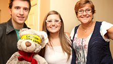 Greg, Ryan Bear, host Lindsay and Mum Ailsa