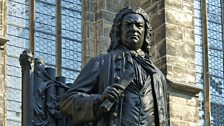 Bach's statue in Leipzig