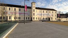 Ebrington Square in Derry, Northern Ireland is built upon a former army parade ground