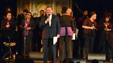 Sir Terry with the London Community Gospel Choir
