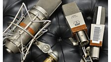 Microphones at the BBC's Maida Vale Studios