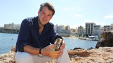 James Holland in St Paul's Bay with ...