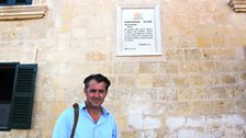 James Holland in St George's Square, Valletta...