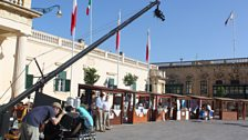 Behind the scenes - Filming with a crane in St George's Square, Valetta