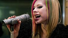 Avril Lavigne in the Live Lounge - 8 March 2011 - 7