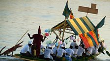 A festival boat on the Senegal River