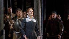 "Joyce DiDonato as the title character of Donizetti's ""Maria Stuarda."""