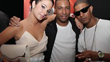 Tulisa and Fazer from N-Dubz minus Dappy who missed his plane from Greece!