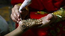 A decorative hand