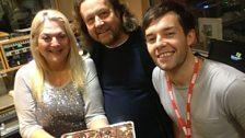 Alex & Dr Strangelove congratulate Vanessa on 2 years at Radio 2