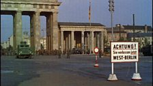 Brandenburg gate with troops in front