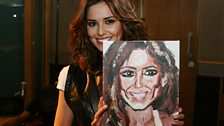 Cheryl with her Twart. Presented to her during her Live Lounge performance on the 23rd March.