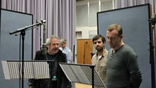 David Fleeshman, Craig Cheetham and Hugo Speer during the record of episode 4