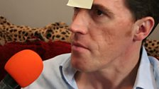 Rob Brydon playing the post-it note game