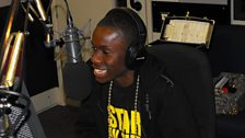 Tinchy Stryder can't help laughing at Reggie's best Michael Jackson impression